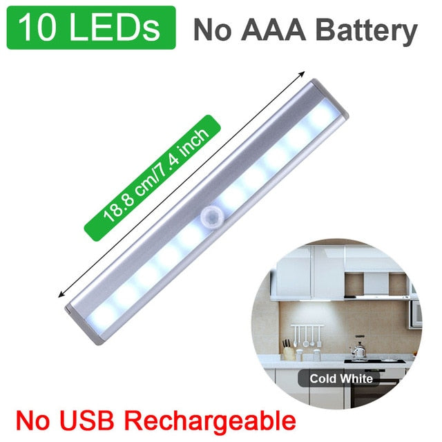Closet Light 160 LED Lights PIR Motion Sensor Light Cupboard Wardrobe Night Lamp For Kitchen Bedroom Cabinet Backlight