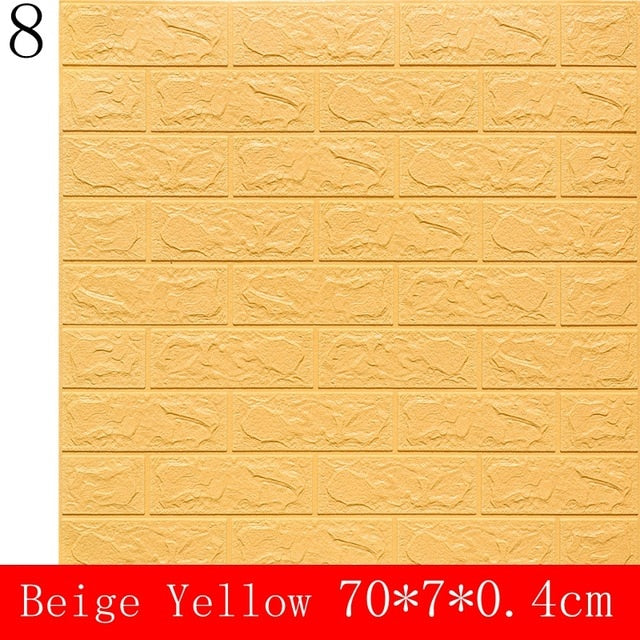 10pcs of 3D Wall Sticker Imitation Brick for Bedroom Living Room Kitchen TV Backdrop Decoration