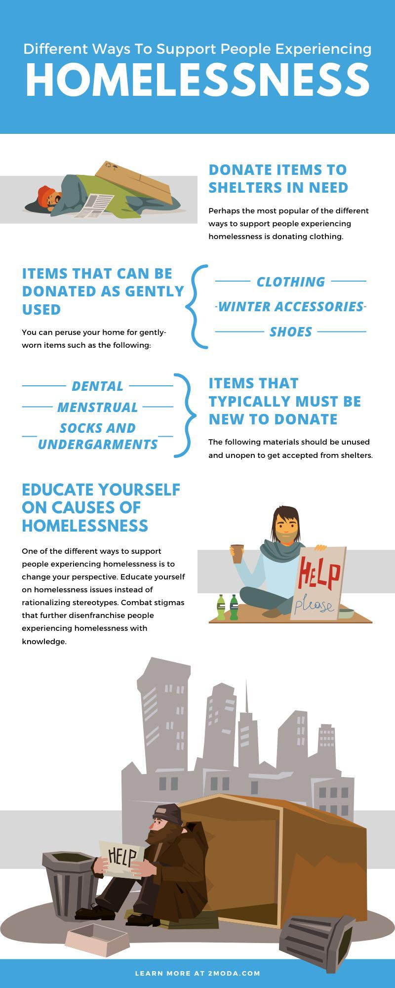 Different Ways To Support People Experiencing Homelessness