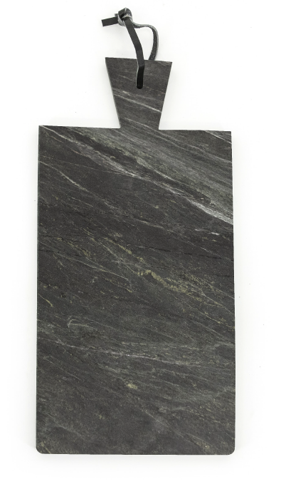 Marble Cutting Board - Rectangle - White, Black & Green