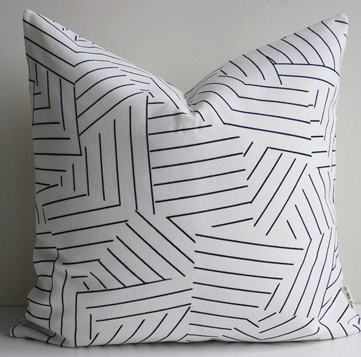 Geometric Lines Pillow - Cover Only