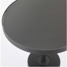 Load image into Gallery viewer, Rounded Pedestal Side Table - Black