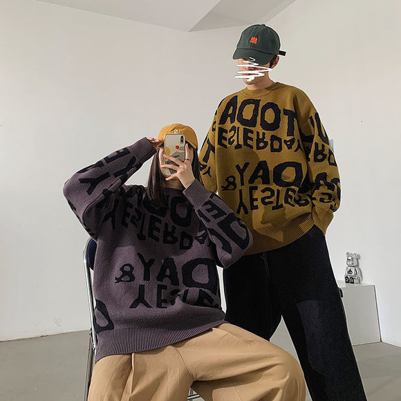 Privathinker 2020 Winter Warm Couple Sweater Korean Streetwear Fashion Pullovers Sweater Autumn 2020 Casual Male Clothing