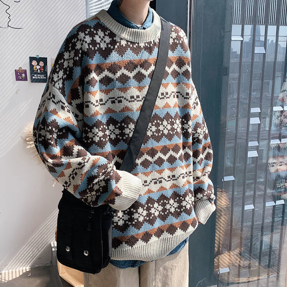 Privathinker Winter Warm Sweater Korean Streetwear Fashion Pullovers Sweater Autumn Graphic Printed 2020 Casual Male Clothing