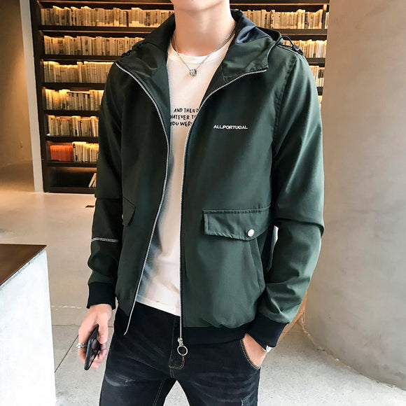 Casual Jacket Men Solid Bomber Jacket Slim Fit Hollow Out Thin Outwear Coats Men 2020 Summer Jackets Men Sun-protective Clothing