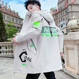Long Jacket Men 2020 Autumn Print Fashion Harajuku Windbreaker Casual Overcoat Male Outwear Youth Hip Hop Streetwear Coats