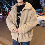 Privathinker Winter Warm Lamb Wool Jacket Coat For Men 2020 Korean Man Casual Loose Outwear Plus Size Men Clothes
