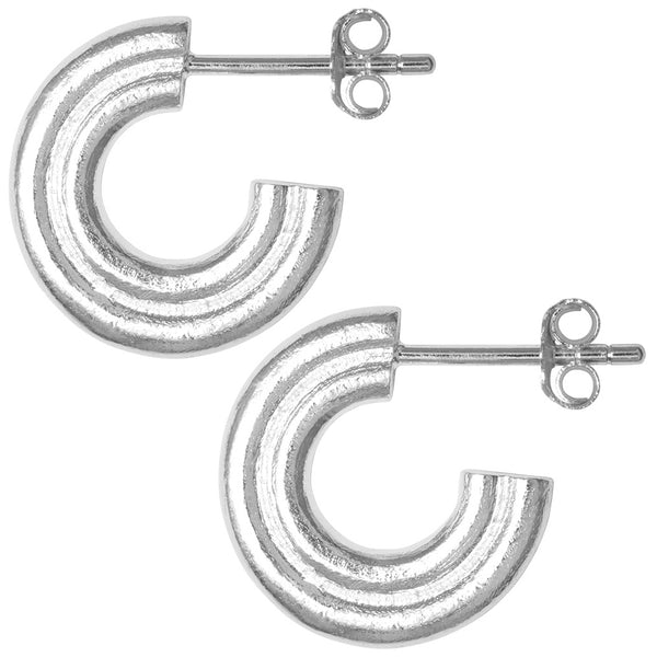 LULU Copenhagen 2FOR1 INSIDE HOOPS PAIR Hoops Silver