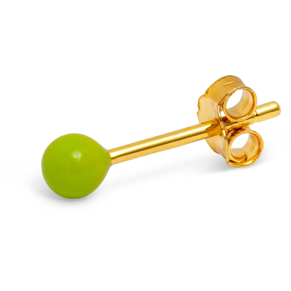 LULU Copenhagen COLOR BALL 1 ST - EMALJ Ear stud, 1 pcs Ljusgrön