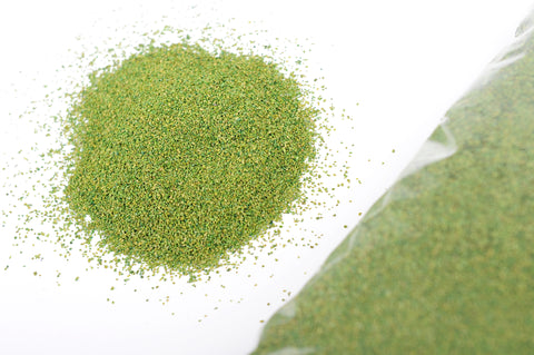 Mid Green Cork Granules for Scenic Display 0.5mm / 1.0mm