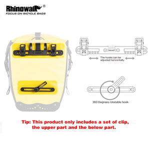 Rhinowalk Bicycle Pannier Bag  Rear Plastic Buckle Set Bike Bag Accessories