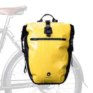 Rhinowalk Bike Panniers Bag 27L Waterproof Rear Rack Bikepacking for Bicycle Cargo Rack, Large Capacity Rear Seat Bag Touring Cycling Accessories
