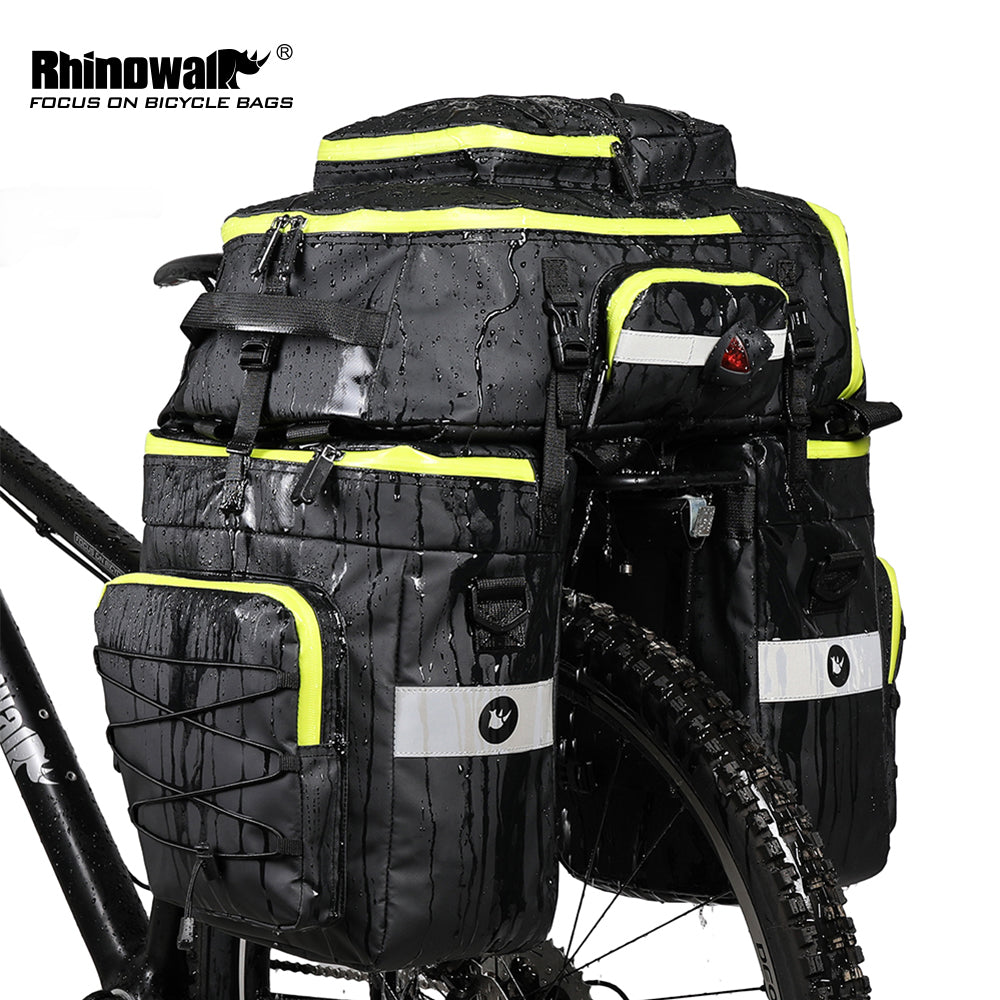 Rhinowalk Bike Bag Bike Pannier Bag Set,(for Bicycle Cargo Rack Saddle Bag Shoulder Bag Laptop Pannier Rack Bicycle Bag Professional Cycling Accessories 3 in 1