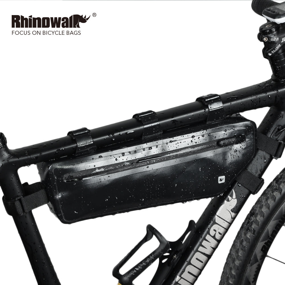 Rhinowalk 2.5L Bike Frame Bag Waterproof Bike Triangle Bag Bicycle Pouch Under Tube Bag Professional Cycling Accessories