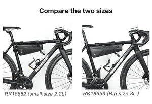 Rhinowalk Bike Frame Bag 2.2L/2.8L Waterproof Bike Triangle Bag Bicycle Under Top Tube Bag Corner Pouch Storage Bag for Cycling Accessories