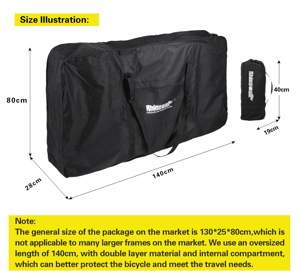 Rhinowalk Folding Bike Carry Bag for 26 inch Mountain Bike 700C Road Bicycle Transport Storage Case Travel Luggage
