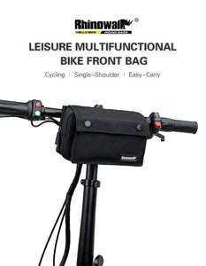 Bicycle Handlebar Bag Outdoor Waterproof MTB Bike Front Frame Top Tube Storage Bag Backpack Shoulder Bag with Rain Cover, Cycling Bike Pouch Multifunctional Bag