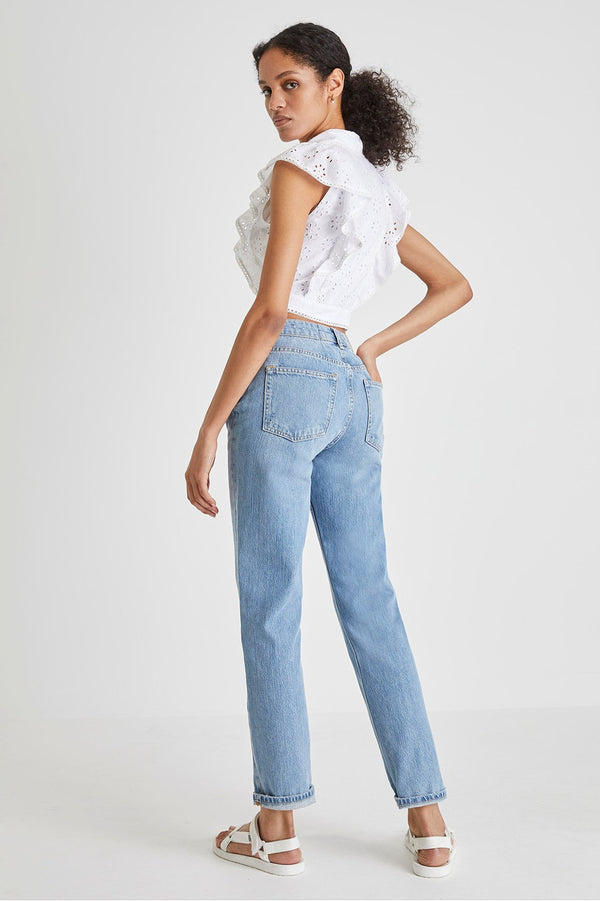 French Connection Duna Cropped Top