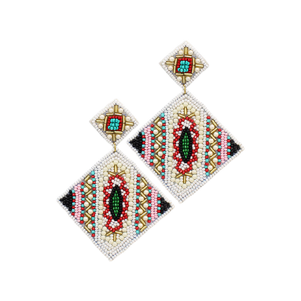 Bishop Boutique Double Rhombus Earring