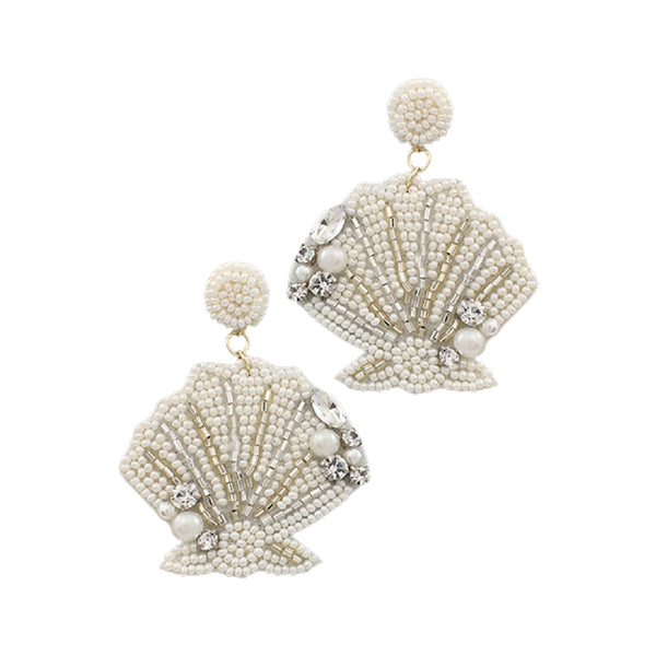 Bishop Boutique Bead Seashell Earring