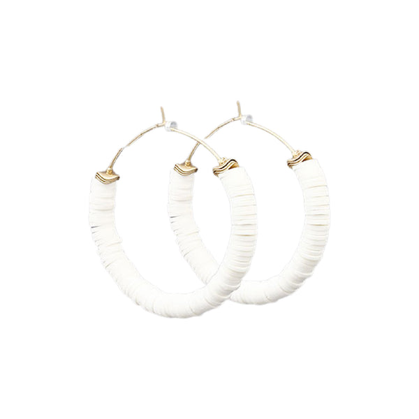 Bishop Boutique Disc Hoop Earring