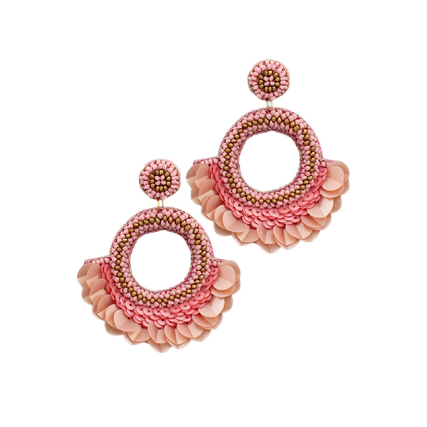 Bishop Boutique Sequin Fan Earring