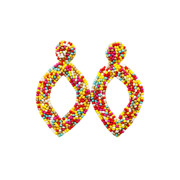 Bishop Boutique Beaded Marquise Earring