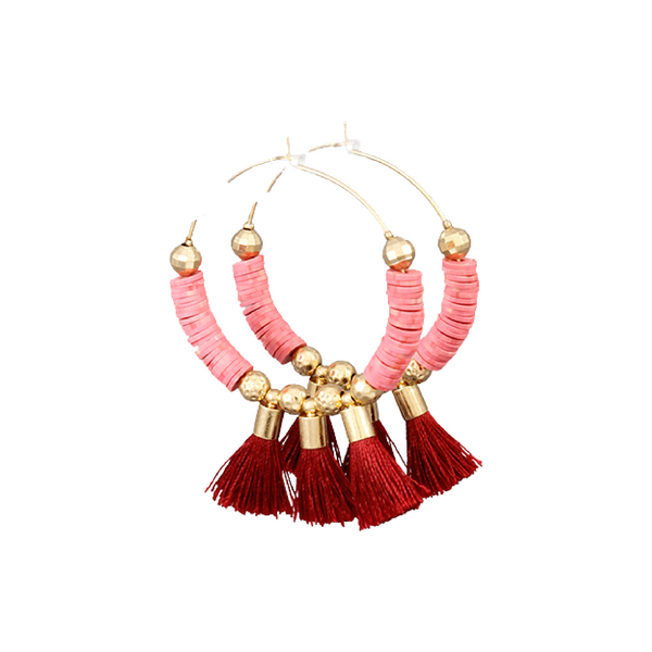 Bishop Boutique Tassel Hoop