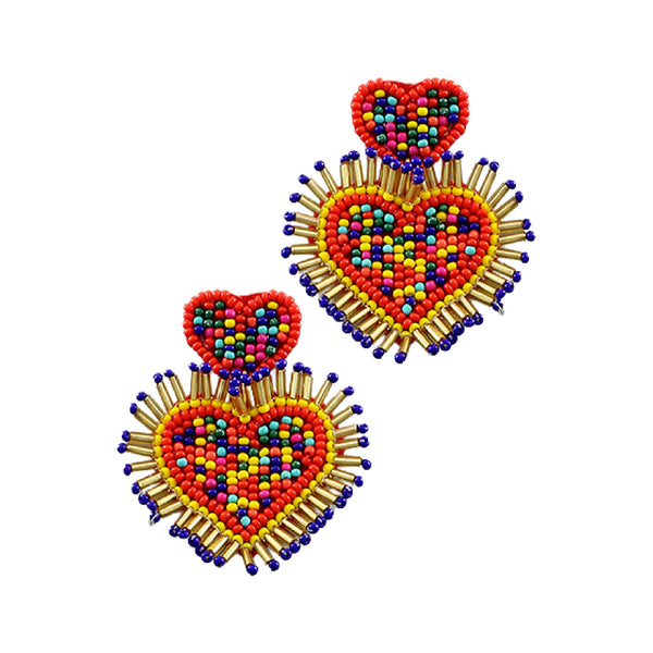 Bishop Boutique Double Heart Earring