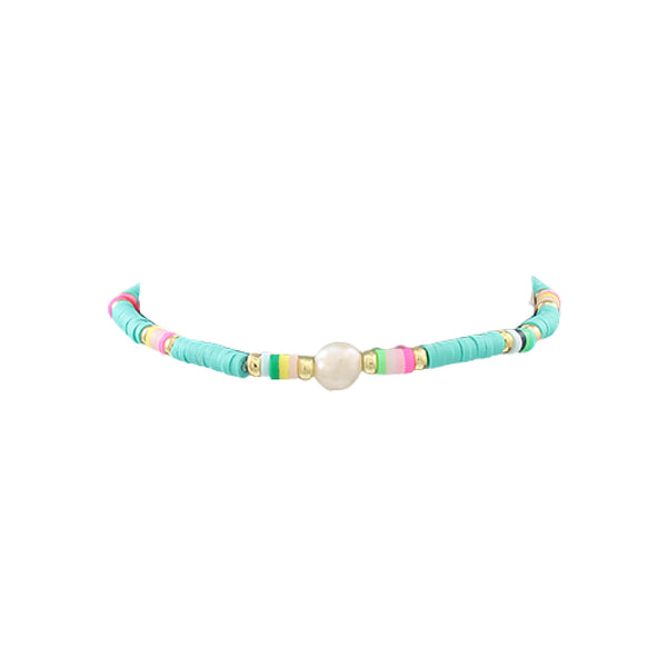 Bishop Boutique Pearl & Rubber Bracelet