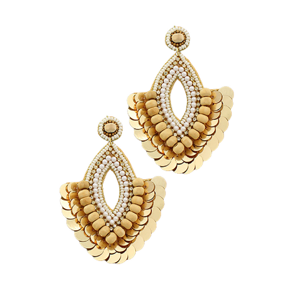 Bishop Boutique Marquise Fan Earring