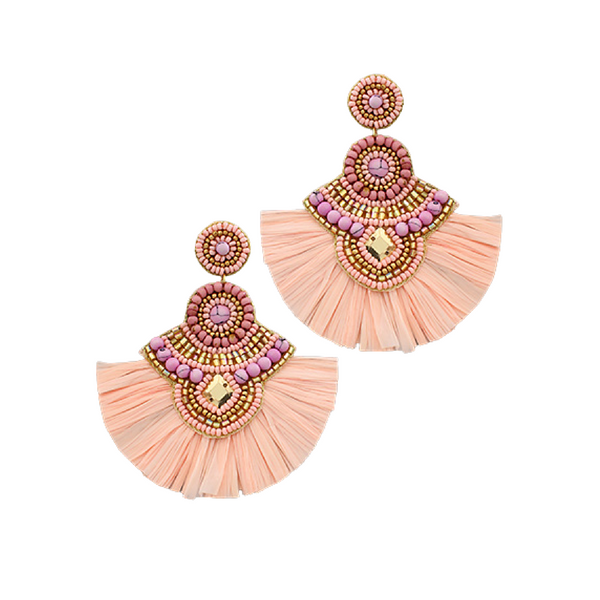 Bishop Boutique Bead & Raffia Earring