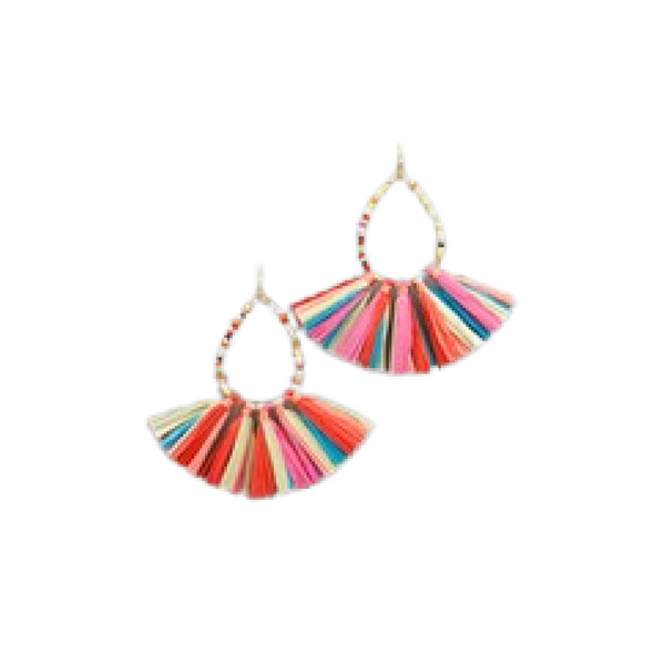 Bishop Boutique Teardrop Fan Earring