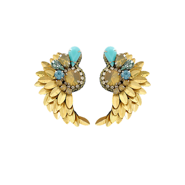 Bishop Boutique Turquoise Wing Earring