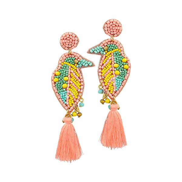 Bishop Boutique Beaded Bird Earring