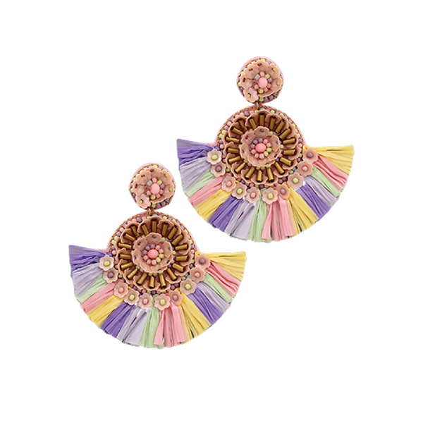 Bishop Boutique Sequin Raffia Earring