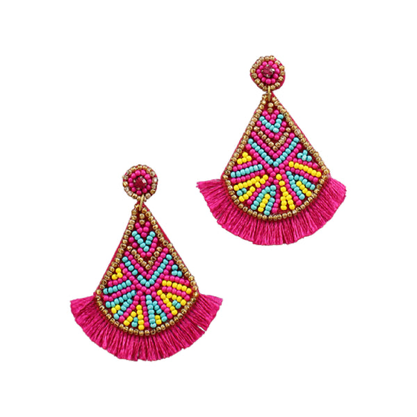 Bishop Boutique Beaded Teardrop Earring