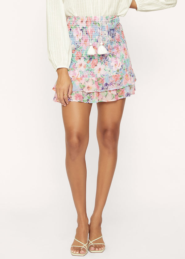Lost + Wander Monets Garden Mini Skirt
