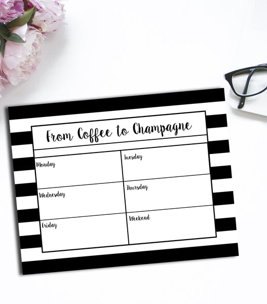 From Coffee To Champagne Notepad