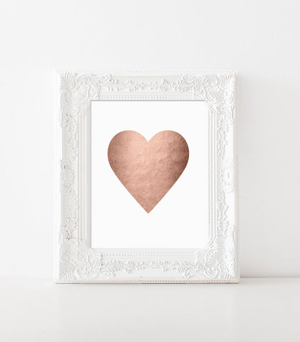 Heart Print (Rose Gold Foil Limited Edition)
