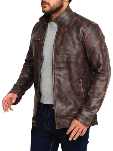 buy best fashion leather jackets, brown leather jackets in low price