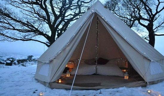 Glamping in snow