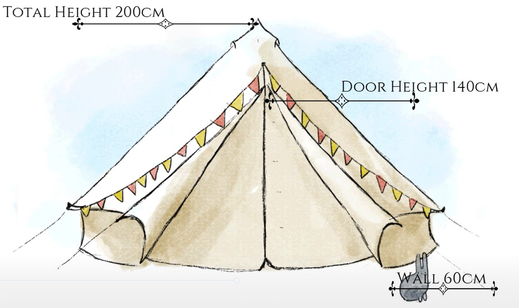 Bell Tent size 3m