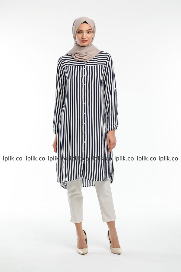 IPLIK Chiffon Striped Tunic
