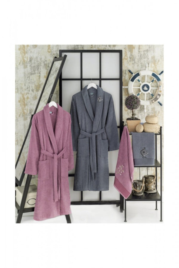 Men's-Women's-Cotton-Bathrobes-4-Set