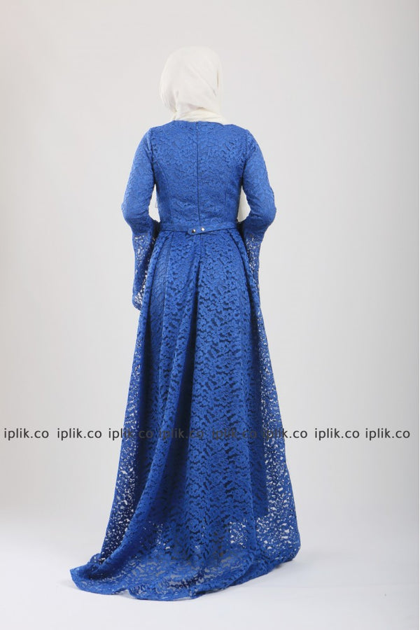 Lace Princess Dress - Blue
