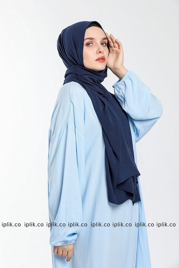Solid Color Different Shawl Prayer Dress
