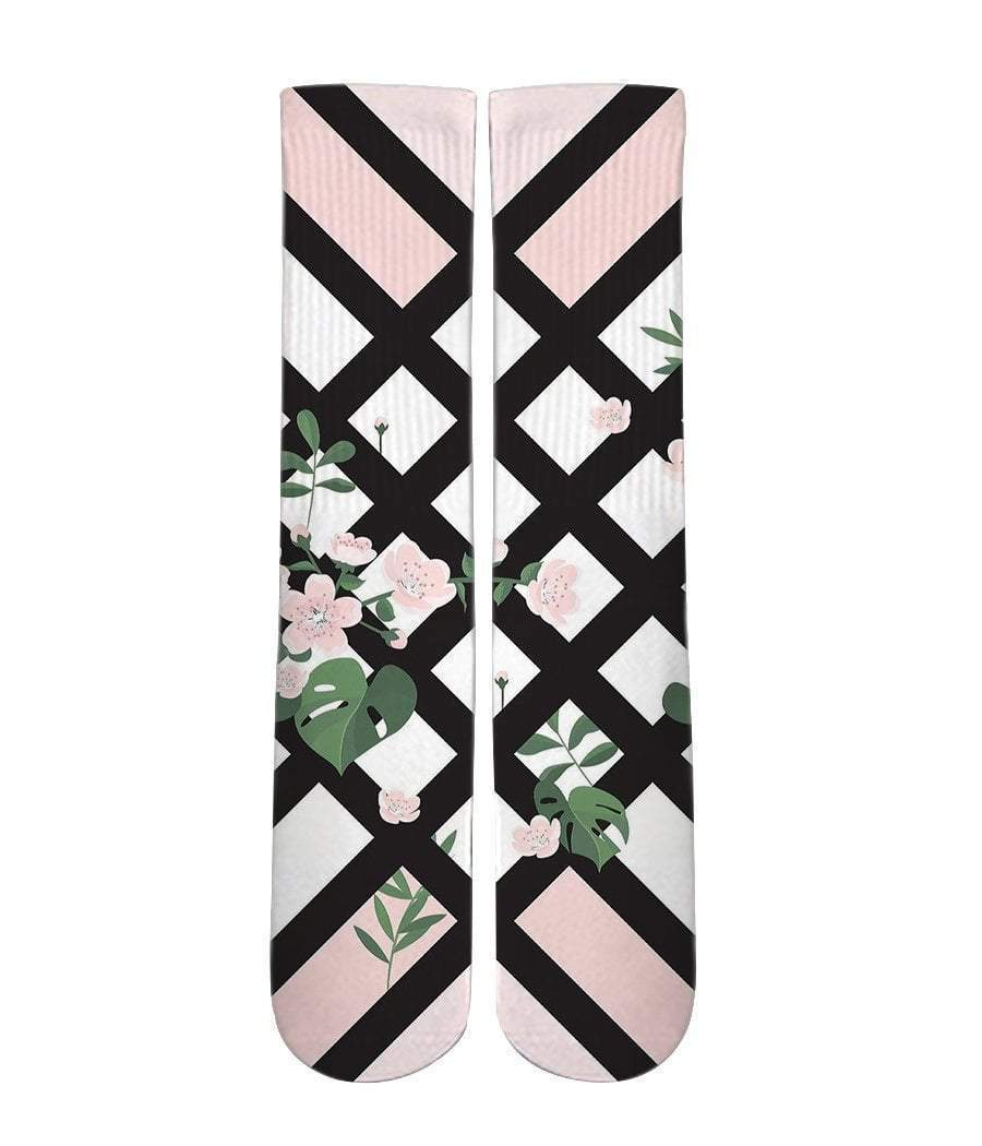 Floral Print Graphic socks - DopeSoxOfficial