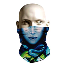 Load image into Gallery viewer, Ski Mask face shield - Medusa design - FashionGorilla