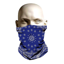 Load image into Gallery viewer, Face Mask - Blue Bandanna design
